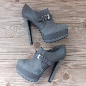 LASONIA Bootie Pumps Heels Platforms